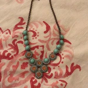 Jewelry - Turquoise and amber color necklace
